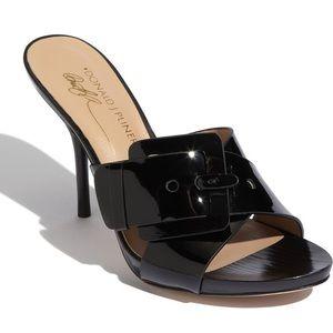 ❤️ Donald J Pliner Buckle Heel Sandal Size 8